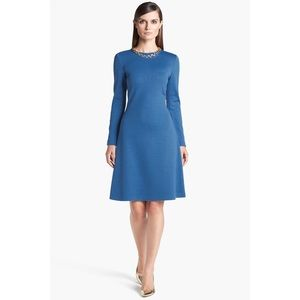 St. John A-Line Milano Knit Dress in Pacific
